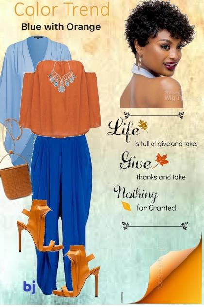 Color Trend--Blue with Orange