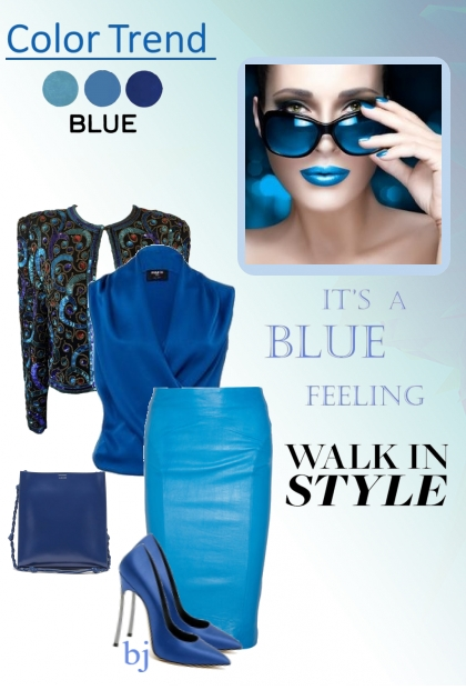 Color Trend--Blue, Walk in Style