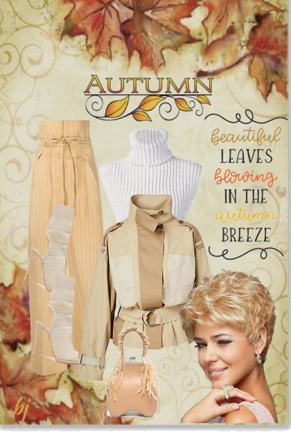 Autumn--Beautiful Leaves Blowing in the Breeze