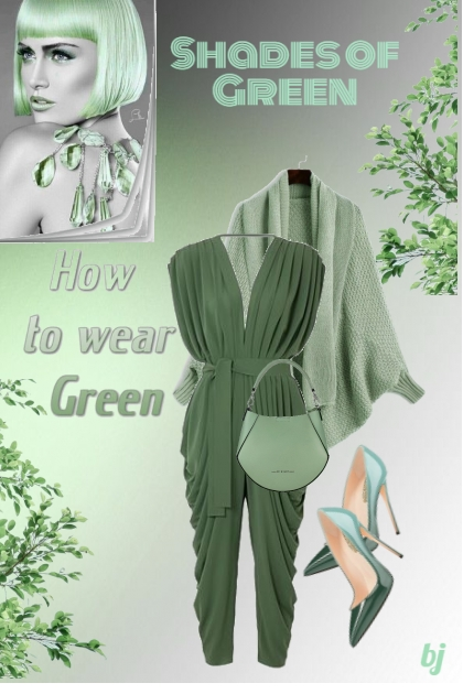 How to Wear Shades of Green