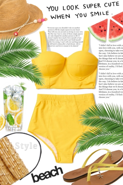 Always in trend with yellow color! Summer !