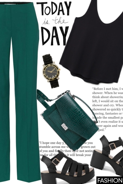Green-black combination, always the right choice!