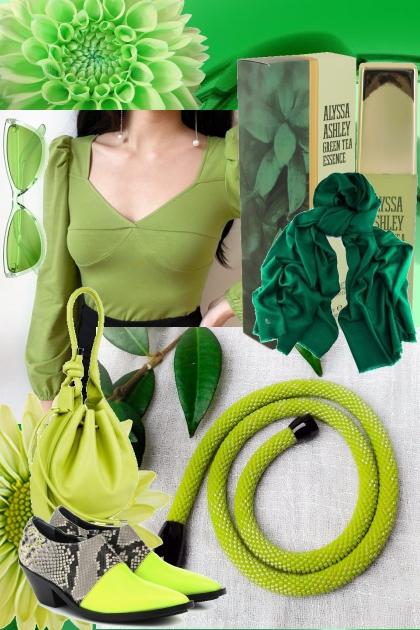 Total green- Modna kombinacija