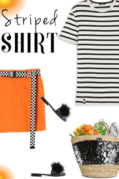 Orange with Stripes