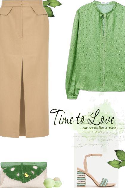 Beige & Green