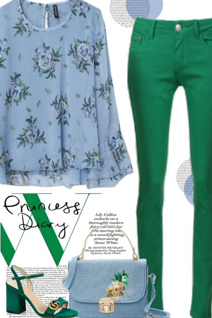 Emerald Green & Baby Blue
