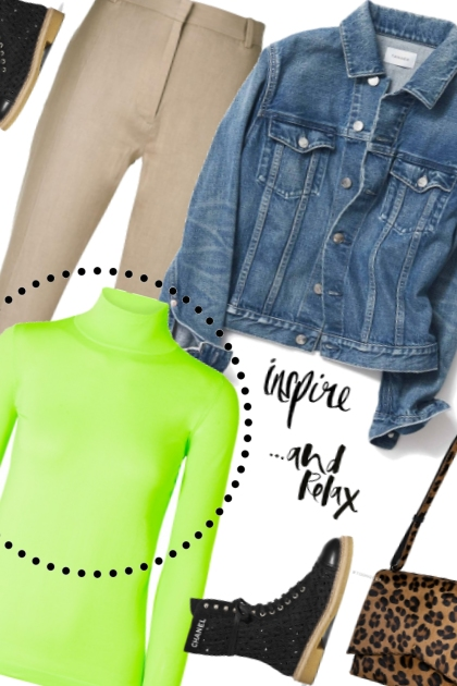 Fashion Trend: Neon Turtleneck