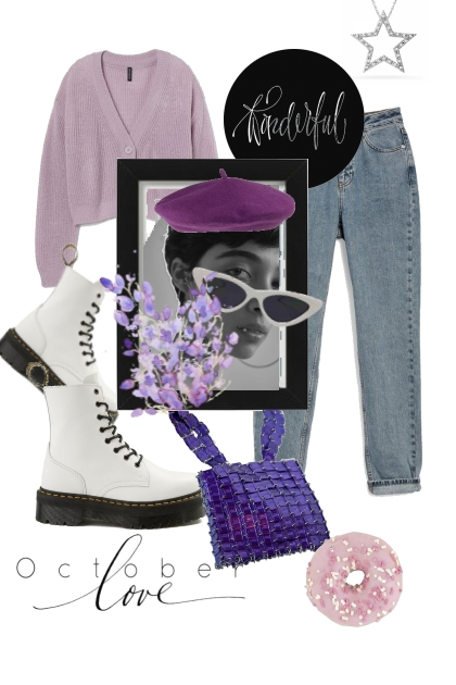 lovely purple outfit- Modna kombinacija