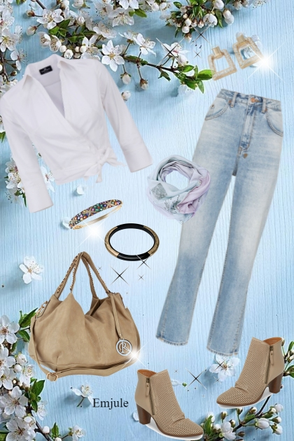 Taupe and Jeans