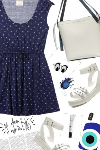Get The Look. Navy blue dots
