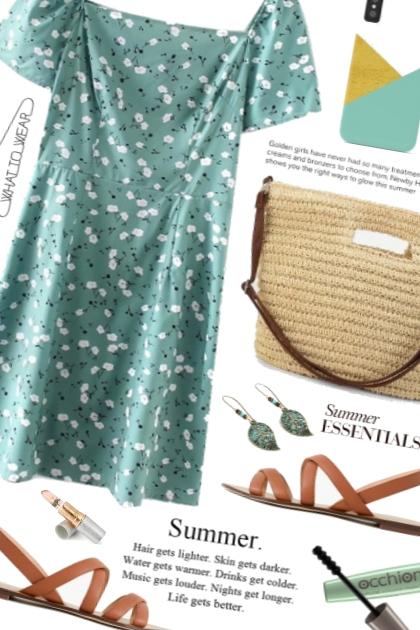 OOTD Mint floral dress