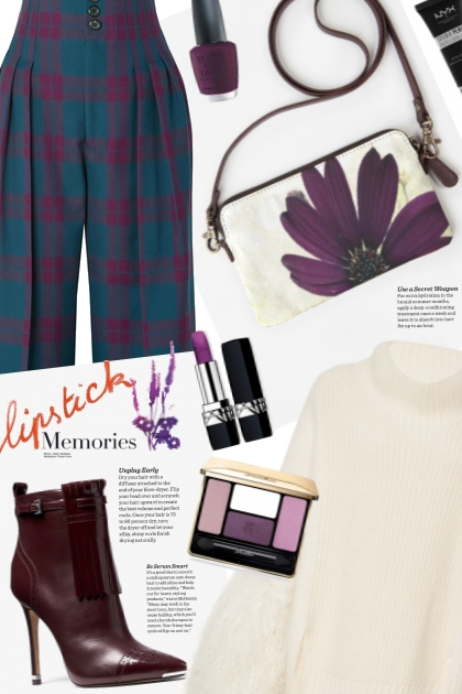 OOTD Purple plaid