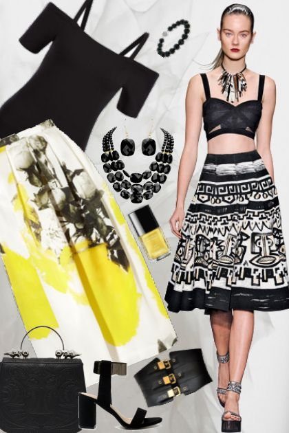 Black & White With Pops Of Yellow!