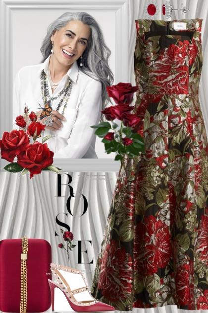 Elegant Dress & Accessories!