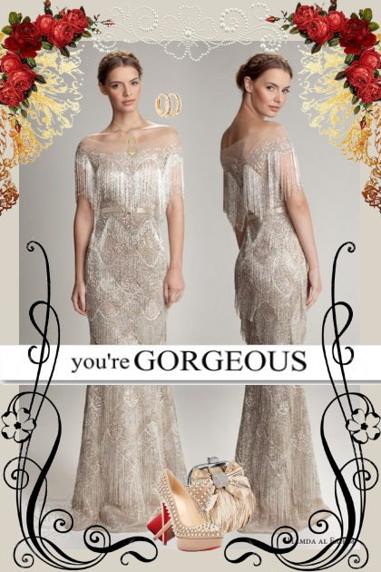 Beaded Evening Gown!