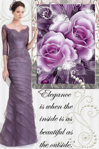 Deep Purple Gown!