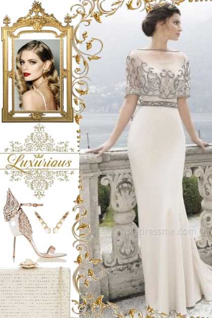 Tarik Ediz Ice Evening Gown