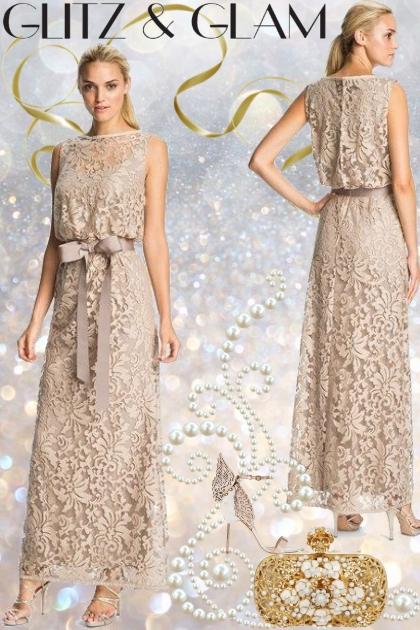 Tadashi Shoji Lace Overlay Gown!