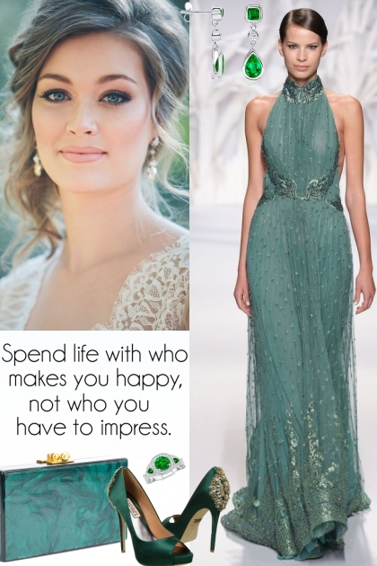 Abed Mahfouz Emerald Green Gown!