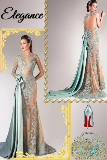 Bateau Tulle & Taffeta Evening Gown!