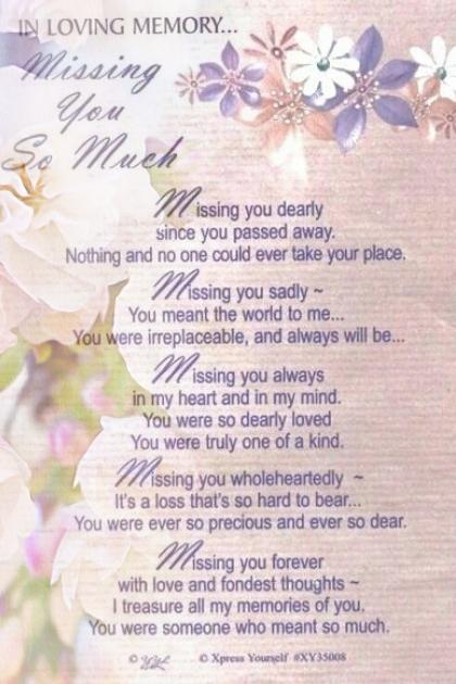 In Loving Memory Of My Mom!