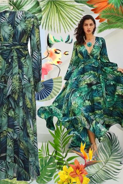 Tropical Maxi Dress!