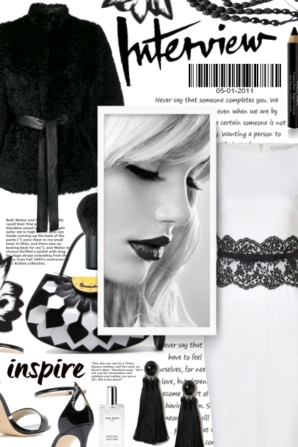 Inspire in Black and White- Fashion set
