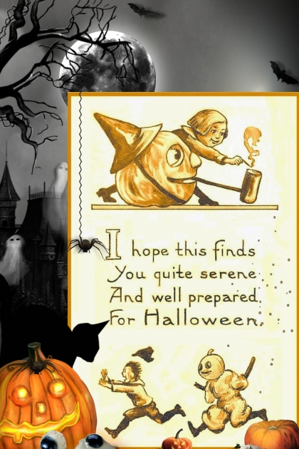 Vintage Halloween Greeting with a spooky twist
