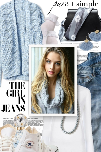 pure & simple.....the girl in jeans
