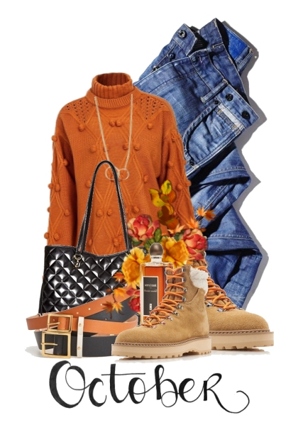 let's start October off in a sweater and boots