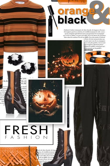 Fresh Fashion in Orange & Black