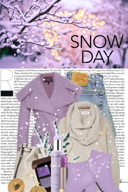 A Purplely Kinda Snow Day