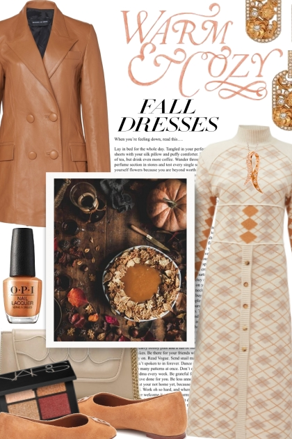 Fall Dresses are Warm & Cozy- Fashion set