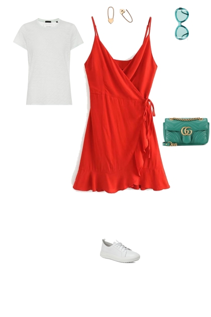 proportion in color is 90/10 . color season spring- Fashion set