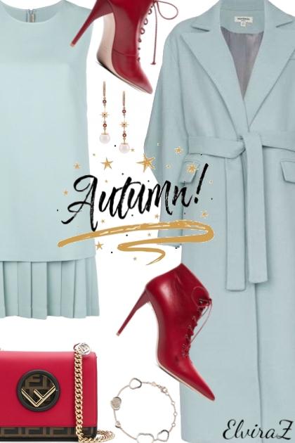 Long belted coat- Combinazione di moda