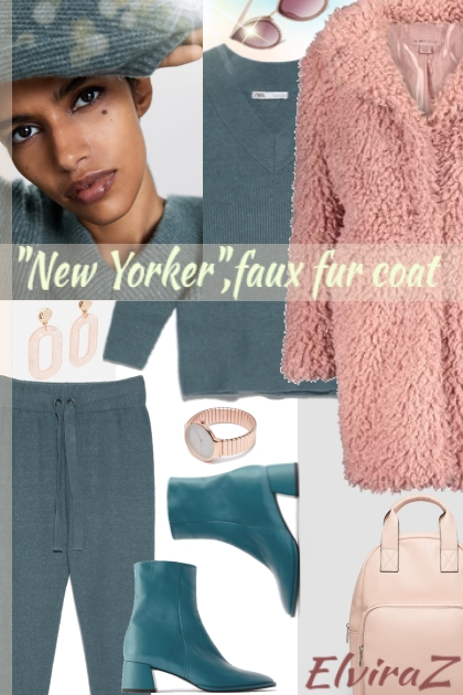 """New Yorker"",faux fur coat - Fashion set"
