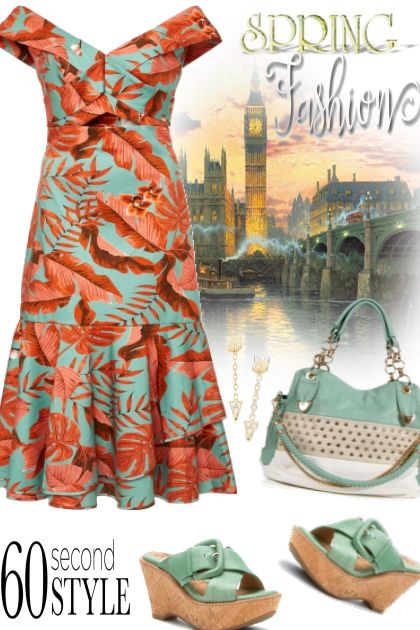 Spring Fashion ~ Coral & Mint