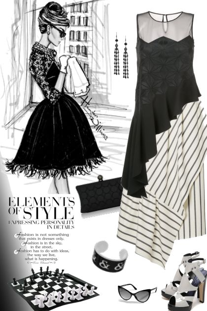 Elements of Style: Black & White   Pattern Mixing- コーディネート