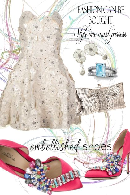 Embellished Shoes~Paula Cademartori Iris Opulence