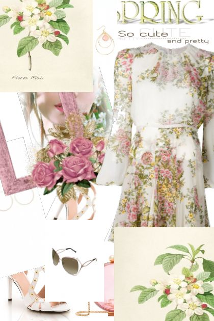 Spring Floral Dress ~ So Cute & Pretty