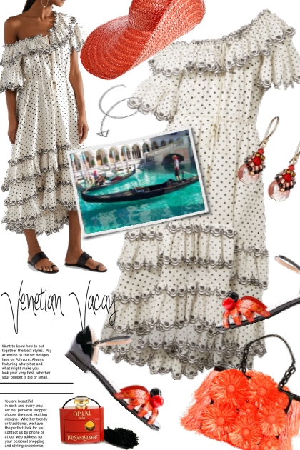 Venetian Vacay ~ Zimmermann Tiered Dress