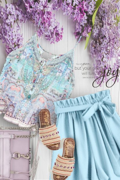 Light Blue and Lilac