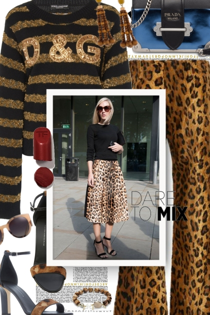 Dare to Mix Leopard and Stripes