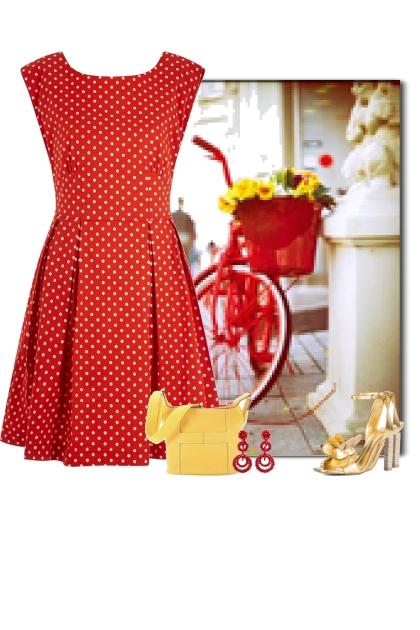 Summer Red & Yellow Polka Dots