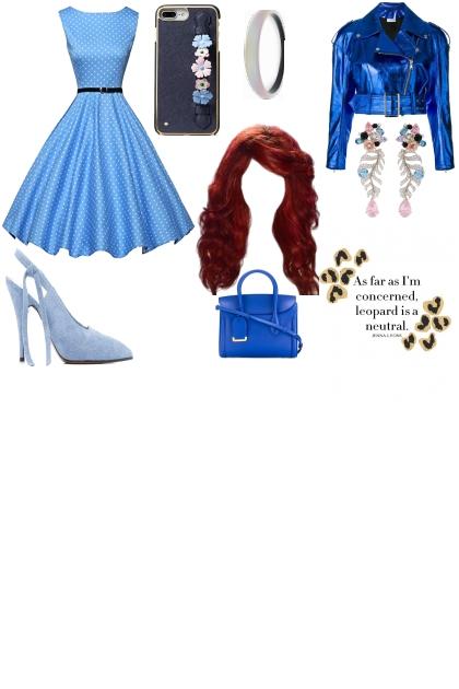 blue outfit red hair=modern little mermaid