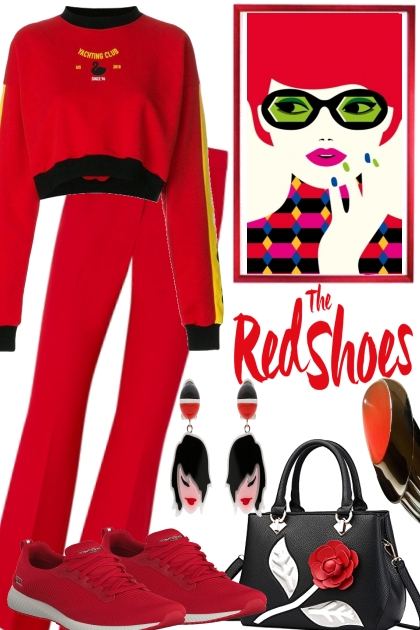 RED SHOES, RED SNEAKERS