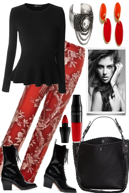 RED WITH BLACK