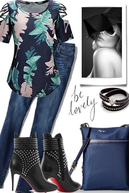 GET THE BLUES ITS MONDAY- Модное сочетание
