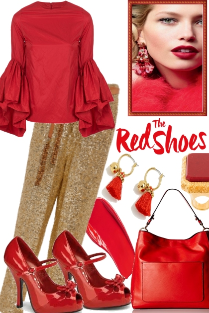 RED SHOES, GOLDEN PANTS