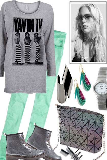 THE GREYS WITH BRIGHT GREEN